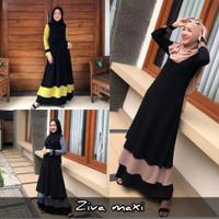 Gamis Wanita Terbaru 2021 lebaran Murah Ziva Maxi Dress Muslim - S