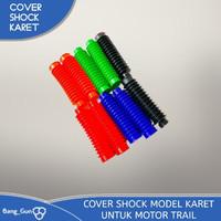 Cover Shock Model Karet Untuk Motor Trail - Hitam