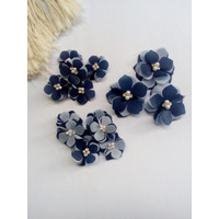 Aplikasi Bunga alamanda organza 3d mix /payet/kebaya/brukat - Warna Lain, 3cm