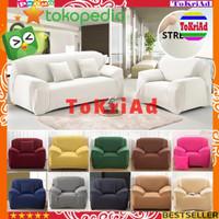 COVER SOFA sarung kursi sofa polos 1 2 3 4 seat free 1bh sarung bantal