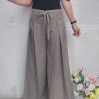 celana panjang kulot wanita muslim bawahan terbaru promo - krem