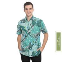 Agrapana Baju Kemeja Hem Batik Pria Premium Lengan Pendek Modern Bayu - M