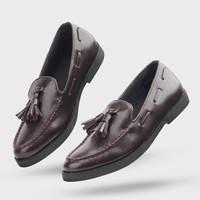 Giant Flames - Sepatu Pria Casual Slip On Pantofel Loafer Porto Brown