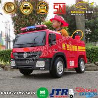 Mobil Aki Anak Truk Pemadam Kebakaran /Fire Truck Ban Karet
