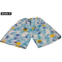 Celana Pendek 3/4 Corak Hawai Untuk Santai / Trafeling / Surfing - Kode A