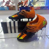 Sepatu Bola Anak Adidas Messi Junior Hitam Oren JR Size 35-38