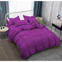 Bedcover Polos Vallery Quincy Tinggi 30 180x200 warna Light Purple