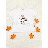 Baju T-shirt Anak Putih Motif Cat Kucing EOBaby G12 - 105