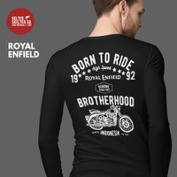 Kaos Lengan Panjang Royal Enfield Motor Bikers Brotherhood Riders - L