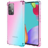 Shock Gradient Case Samsung Galaxy A72 - Rainbow Clear Cover AntiCrack