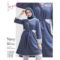 Lanika Tunik Alnita/atasan wanita/blouse/lengan panjang/tangan/terbaru