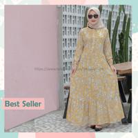 Homey Dress Ayana | Gamis Wanita Katun Rayon Motif Bunga Adem Murah
