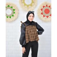 TANK TOP APPAREL - Atasan Wanita Hijab Motif Kotak Import Korean Style