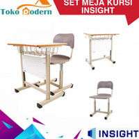 1 Set Meja Kursi Komputer / Belajar / Kantor / Office / Bimbel / Wfh