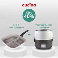 CUCINA 3 in 1 Grill Pan Frying Pan 28 cm Frypan 3in1 Marble