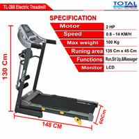 treadmill elektrik total fitness
