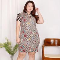Jo & Nic JESSICA Dress Batik Cheongsam Jumbo Big Size