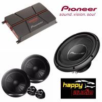 Paket Audio Mobil Pioneer Subwoofer Pasif TS-A30S4 + Power + Split ORI