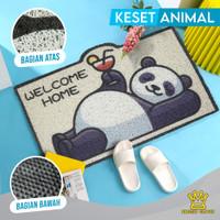 (KK) KESET MOTIF CUTE ANIMAL LIMITED EDITION BAHAN PVC UK 40 X 60CM