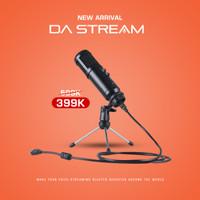 Digital Alliance DA Stream Mic Condenser/Podcast Microphone 16mm Black