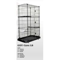 Kandang Tingkat Kucing / Kandang Jumbo 3 Tingkat + Ayunan / Cat Cage