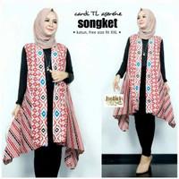 outer cardigan batik tanpa lengan - vest Batik XXL