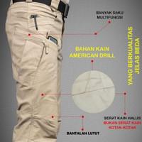 Celana Tactical Bahan Drill Serat Lembut Not Blackhawk kotak-kotak
