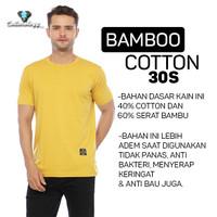 Cottonology Kaos Polos Kuning Cotton Bamboo Premium - S