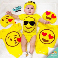 😍baju bayi jumper bayi 😍motif lucu emoji smile 😍