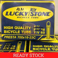 Ban Dalam Sepeda 700 x 18/23 c Lucky Stone FV Presta 6 cm 60 mm Fixie