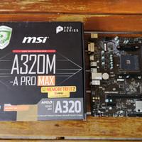 paket msi a320m a pro max + 2x8gb ddr4 2666mhz
