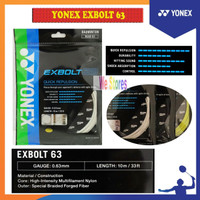 YONEX EXBOLT 63 String / Senar Badminton YONEX BG EXBOLT 63 SP