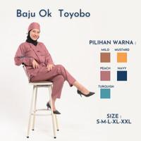 Baju Ok Toyobo - Baju Jaga - Satu set topi dan masker