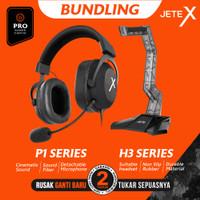 JETE BUNDLING Headset Gaming Pro JETEX P1 + Headset Stand H3