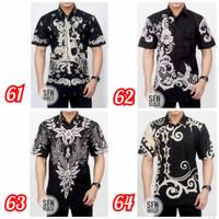 K4 Hem Baju Batik Pria Murah Laki Motif Batik Pesta Kerja Formal Baju