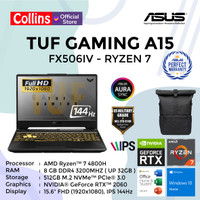 ASUS TUF GAMING A15 FX506IV RYZEN 7 4800H 8GB 512GB RTX2060 6GB 144HZ
