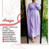 ANAYA daster rayon adem baju muslim bumil busui friendly