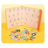 Buku Magnet Huruf A-Z Anak Belajar Menulis / Buku Spelling Game