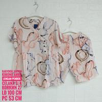 Baju Tidur AMRO Lengan Pendek Kimono Celana 3/4 (BDRKMN)