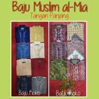 baju muslim pria batik koko almia al-mia panjang pendek original obral