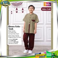 Baju Koko Anak Laki-laki Muslim Terbaru 2021 Nibras Koko anak Bianca - yellow gold, 0