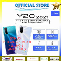 VIVO Y20 2021 RAM 4/64 GB. GARANSI RESMI VIVO INDONESIA