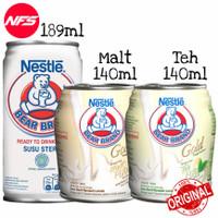 Nestle Bear Brand Susu Steril Kaleng 140/189 ml-Gold-Malt/White Tea