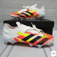 Sepatu Bola Adidas Predator Mutator 2.1Low White Orange Black FootBall