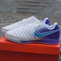 Sepatu Futsal Nike Tiempo X White purple
