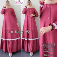Baju Gamis Wanita Terbaru Lio Maxy Dress Termurah Busana Muslim Syari