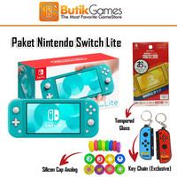Nintendo Switch Lite Console Mesin Blue Biru Turquoise