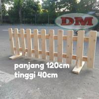 pagar kayu pagar taman pembatas ruangan/partisi P120 T40