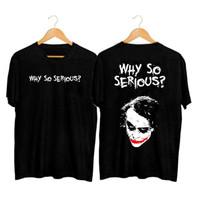Kaos Pria Distro Joker BFF138 Fashion Pria Baju Pria Pakaian Pria - Hitam, L
