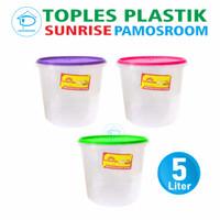 Pamosroom Toples Sunrise 5L Tempat Kerupuk Peyek Toples Sealware 5 L -